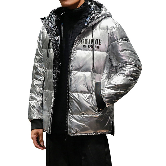 ee2de374a85 New Top quality 90% Silver glossy Duck Down Jacket Men Coat Thick Snow Parka  Hooded Warm Winter Jacket Male Outerwear