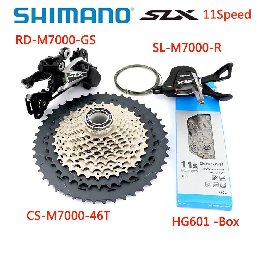 SHIMANO SLX M7000 Groupset Upgrade Kit Mountain Bike 11 Speed M7000 42T/46T cassette & Rear Derailleur/Shift Lever/HG601 Chain