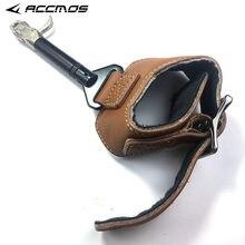 Jx caça flecha acessórios de tiro com arco, liberação de arco, alça ajustável, para a prática de tiro com gatilho alça de pulso pinça de aço