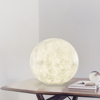 modern minimalist moon table lamp bar Cafe bedroom warm ball lamp bedside lamp