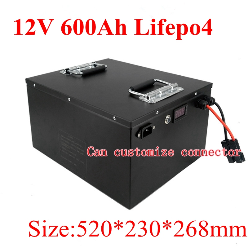 Punctual 12v 500ah 600ah Lifepo4 Lithium Battery 12v Bms 4s For Rv Inverter Solar Energy Storage Motor Homes Emergency System+20a Charger Batteries Battery Packs