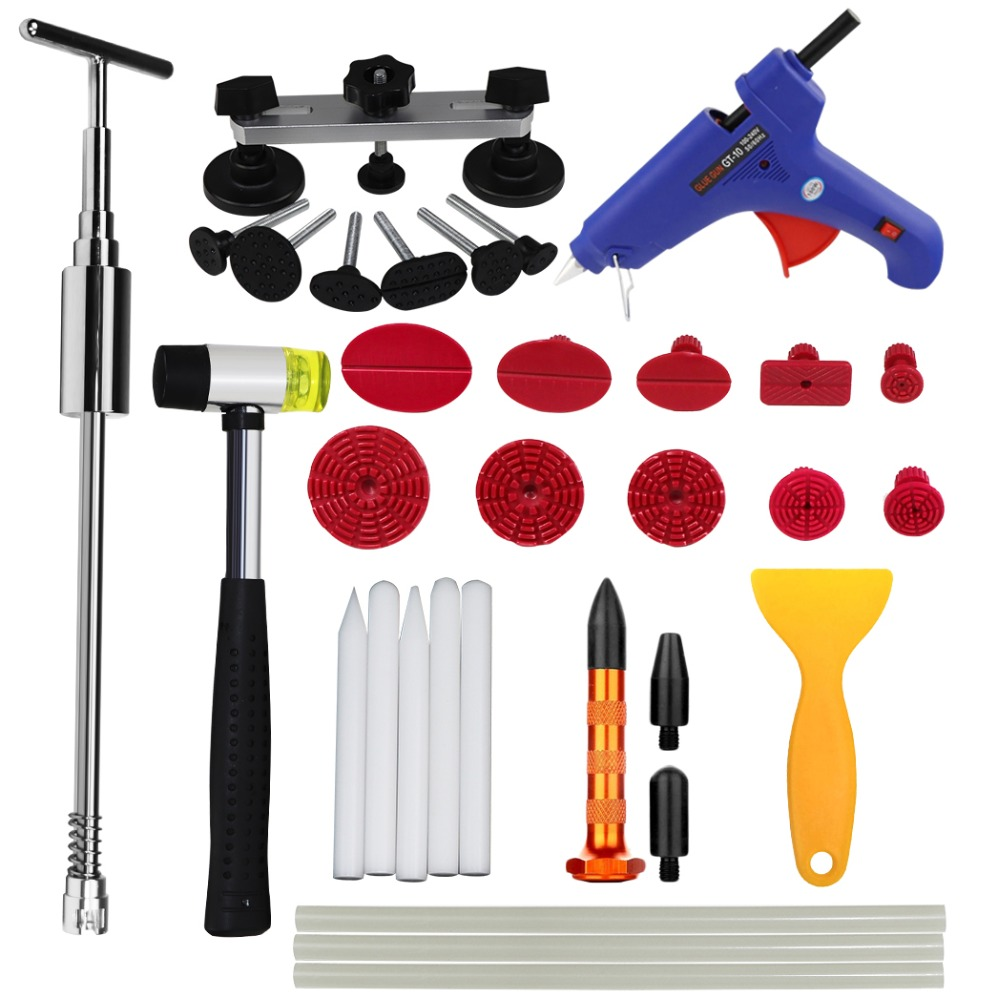 WHDZ PDR Tool Set Paintless Dent Repair Tools Dent Removal car Kit line Board Dent Puller Glue gun Slider hammer Hand Tool Set