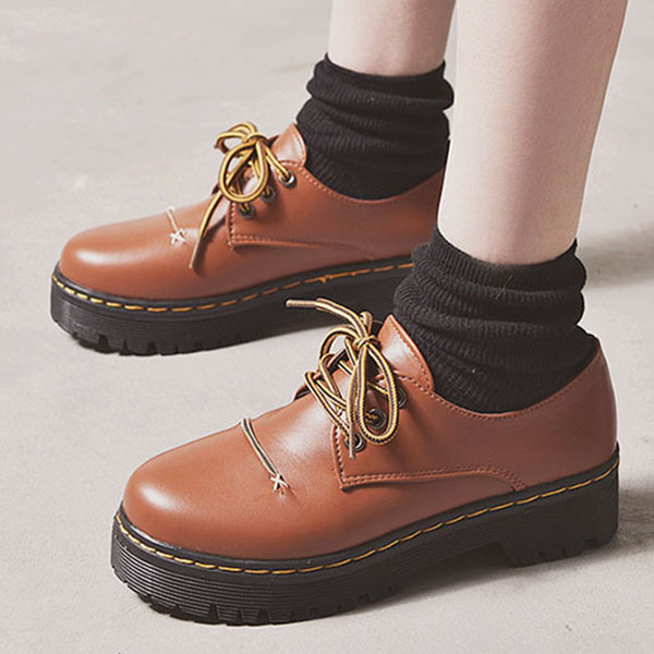 brown oxfords shoes women casual