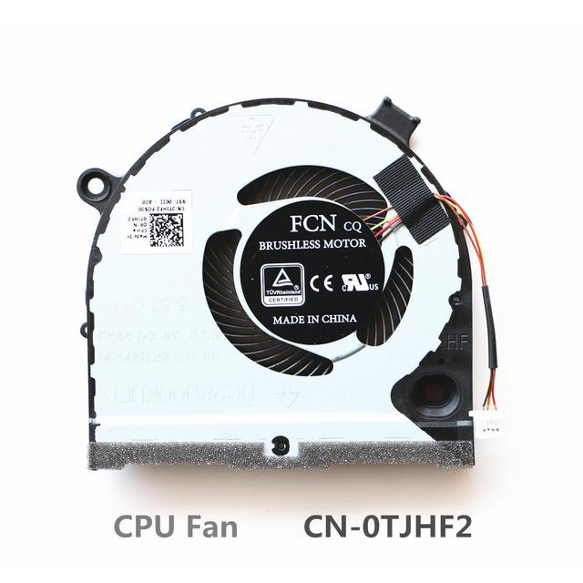 US $15 99 |Laptop Replacement Cooler Fan For Dell G3 3579 G5 5587 Cpu  Cooling Fan CN 0TJHF2 CN 0GWMFV FCN DFS481105F20T FKB6-in Fans & Cooling  from
