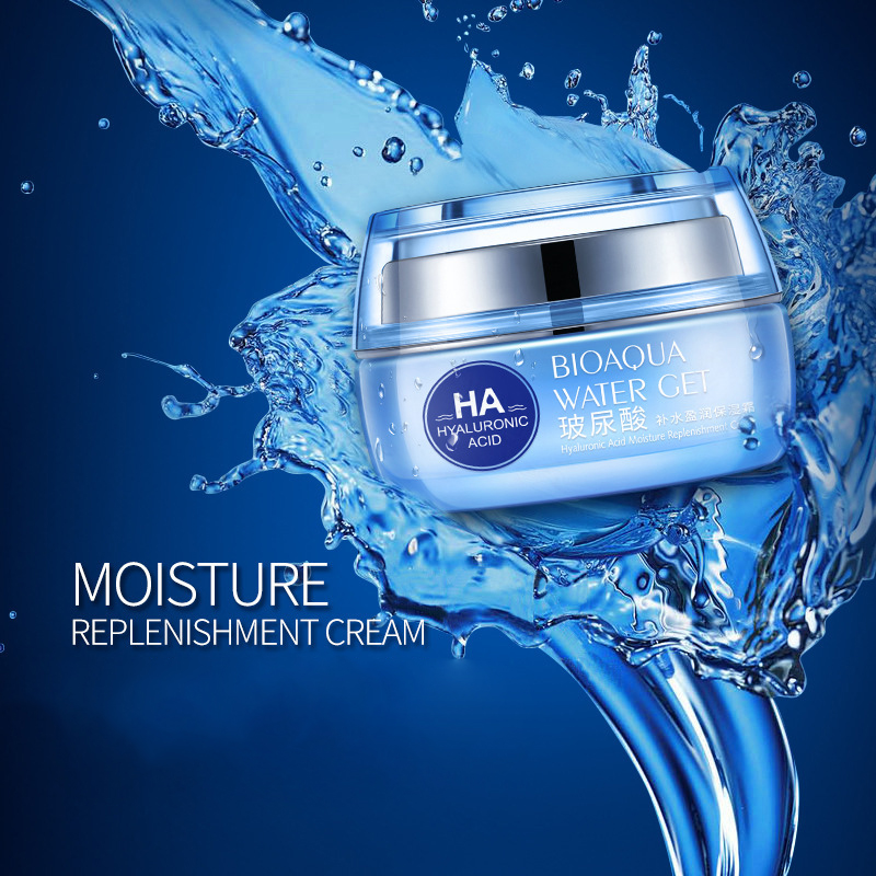 BIOAQUA Hyaluronic Acid Face Moisturizer Cream Deep Hydrating Anti-Wrinkle Face Cream Facial Day Cream Cosmetic For Dry Skin 50g