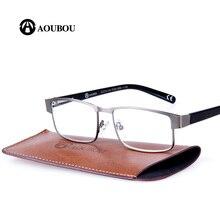 AOUBOU Designer Reading Glasses Women PD58.5mm Square Stainless Steel Old Man Transparent Glasses Ochki Lentes De Lectura A106