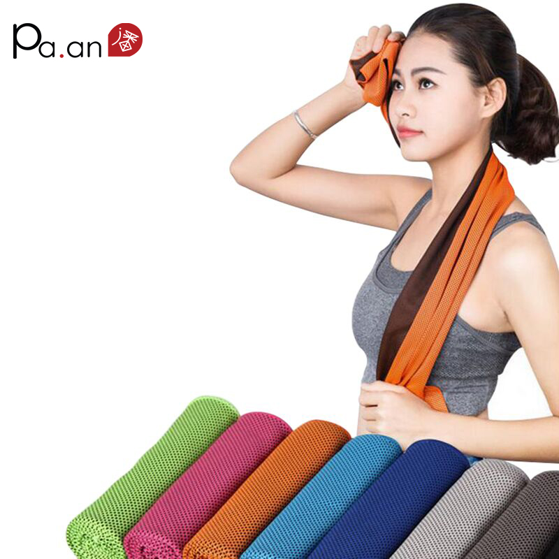 Cooling Sports Towel Ice: 2 Piece Summer Cooling Sports Towel Microfiber Fabric