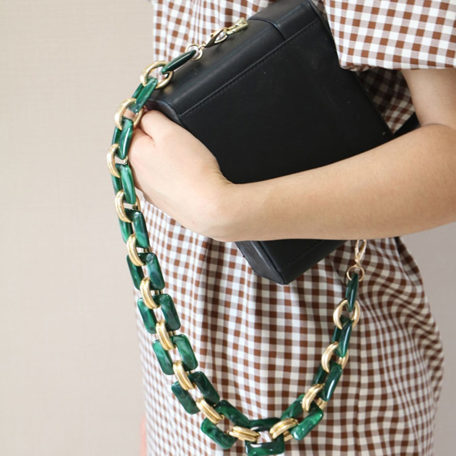 Luxury Acrylic Alloy Shoulder Straps Design Wild Acrylic Bag Strap High Quality Handbags Belts Purse Accessories Purses Handles Luggage & Bags