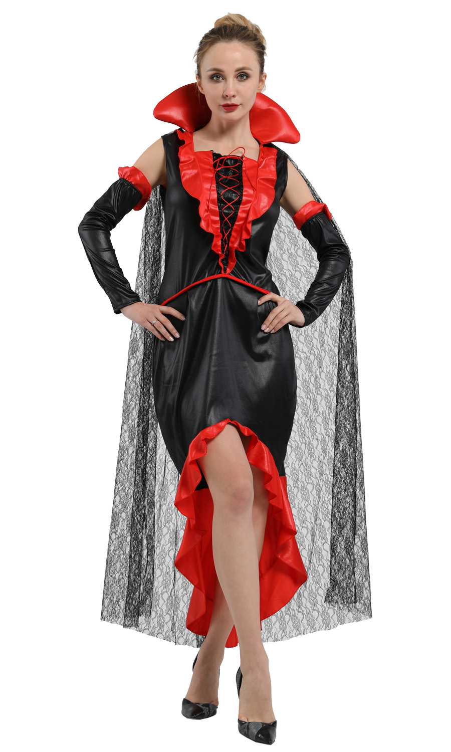 <font><b>Halloween</b></font> ghost bride <font><b>Sexy</b></font> <font><b>Vampire</b></font> <font><b>Costumes</b></font> Adult Women Queen Carnival Party Cosplay Fancy Dress image
