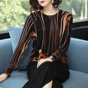 Image 3 - YISU נשים סוודר 2019 אופנה אביב סתיו סוודרים חמים סוודר פס מודפס סוודרים נקבה סוודרים סרוגים נשי