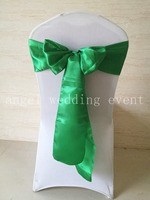 Free Shipping 100pcs Emerald Color Bluish Green Satin Sash Chair Sashes 15x275cm Chair Bow Knot