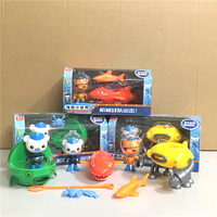 3 Box Octonauts Vehicles Boat Ship Toys Captain Barnacles Kwazii Shellington Children Best Gift