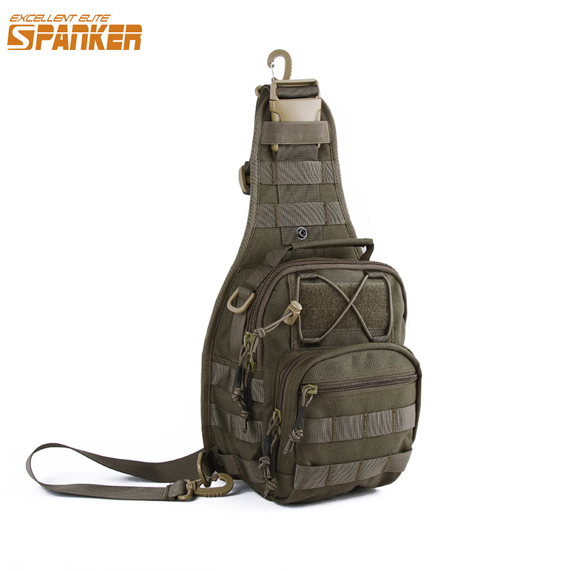 EXCELLENT ELITE SPANKER Outdoor Military Shoulder Bag Men's Tactical MOLLE Waterproof Bags Hunting Sports Nylon Camouflage Pack excellent elite spanker outdoor military shoulder bag men s tactical molle waterproof bags hunting sports nylon camouflage pack