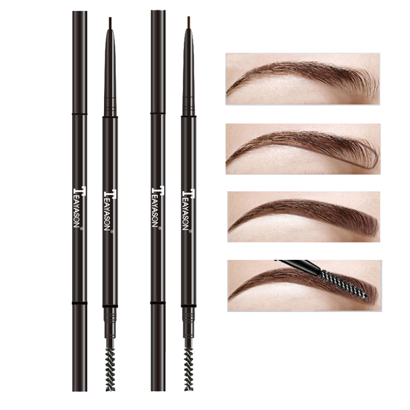 TEAYASON super slim <font><b>eyebrow</b></font> pencil dual ended with <font><b>eyebrow</b></font> brush waterproof long lasting black brown <font><b>eyebrow</b></font> <font><b>tatoo</b></font> <font><b>pen</b></font> AM061 image