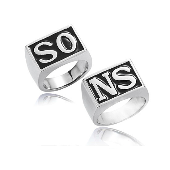 Anel Silver Plated Knuckles Biker Men Ring Sons Of Anarchy Punk Rings 2 Pieces One Set/Pair Price Movie Jewelry Gift