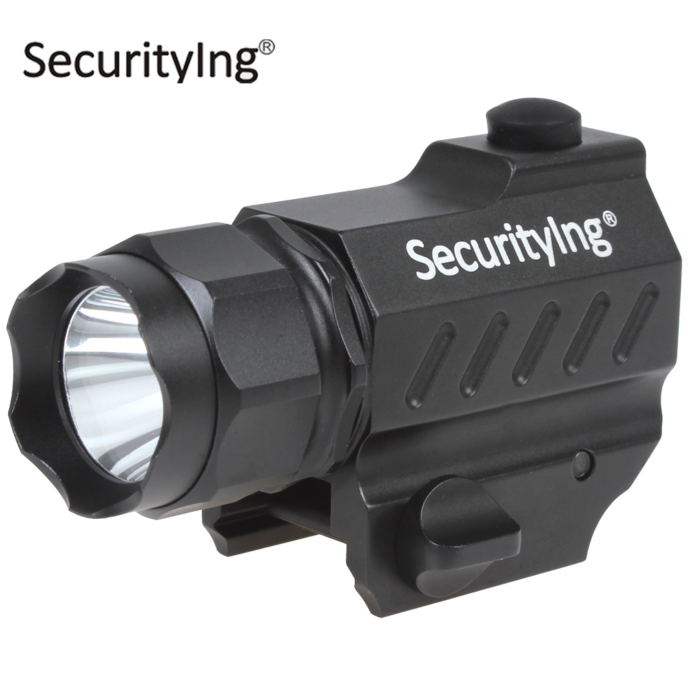 SecurityIng Mini XP G R5 LED Tactical Flashlight Torch High Power Gun Mounted Outdoor Hunting LED Flash Light with Button Switch