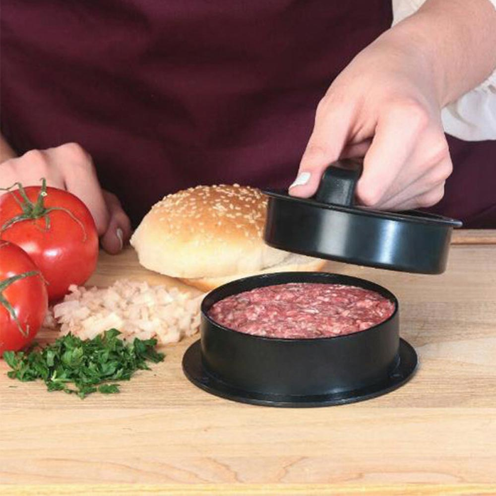 Hamburger Press Meat Pie Press Stuffed Burger Maker Mold Maker with Kitchen Helper Accessory Food Grade ABS Kitchen Labor Saver in Patty Makers from Home Garden