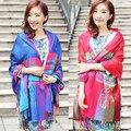 2016 новый этническая шаль шифон шарф женщин шарфы дамы длинные шеи шарф femme палантин платки палантин femme
