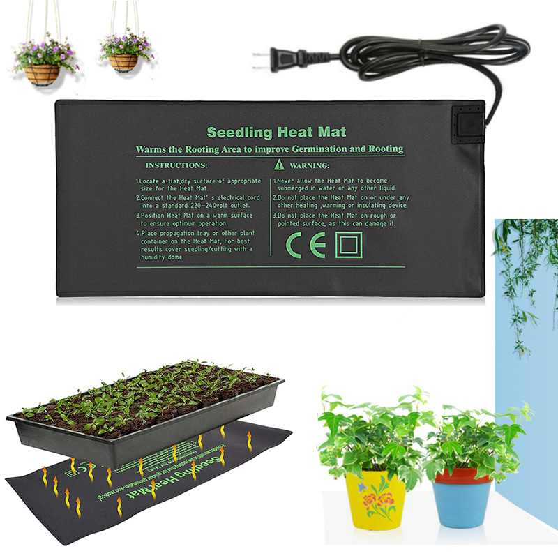 Seedling Heat Mat 24x52cm Plant Seed Germination Propagation Plants Growth Clone Electric Heating Pad Seed Tray Garden Supplies
