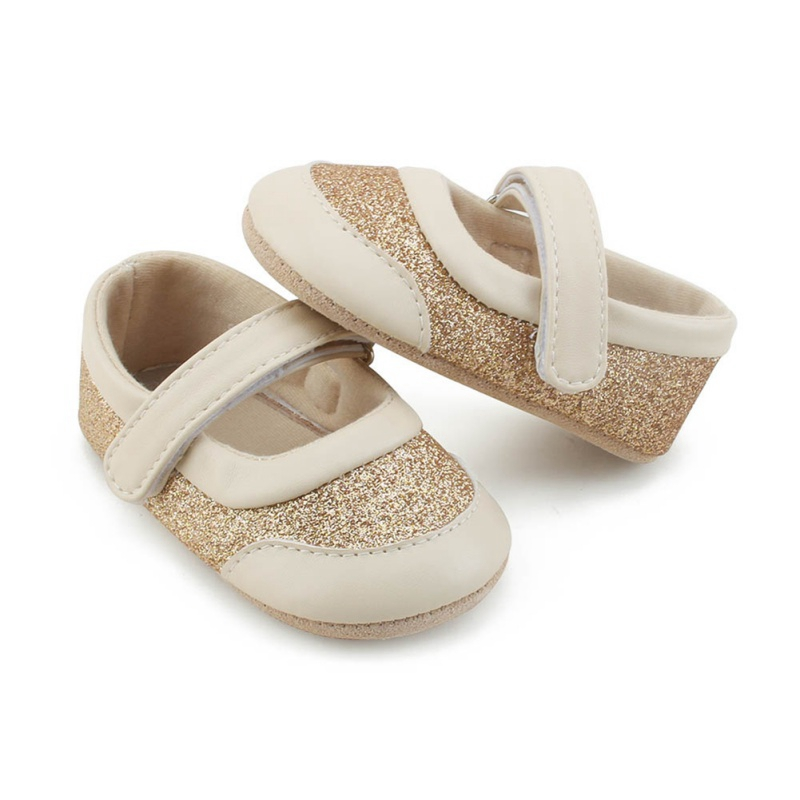 Newborn Baby Girl Shoes Prewalker First Walkers Lovely Golden Sneakers Infant Girl Princess Shoes New Born Kids Girls Shoes