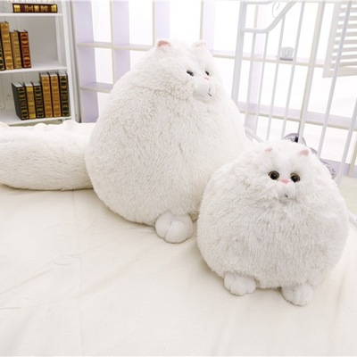 Dorimytrader New Cute cat 20'' 50cm Super Lovely Plush Funny Soft Stuffed Giant Animal Persian Cat Toy Girls Gift White Cat Doll kifit electric tummy abdominal slimming lose weight waist trainer fat belly burner fitness massage belt health care tool