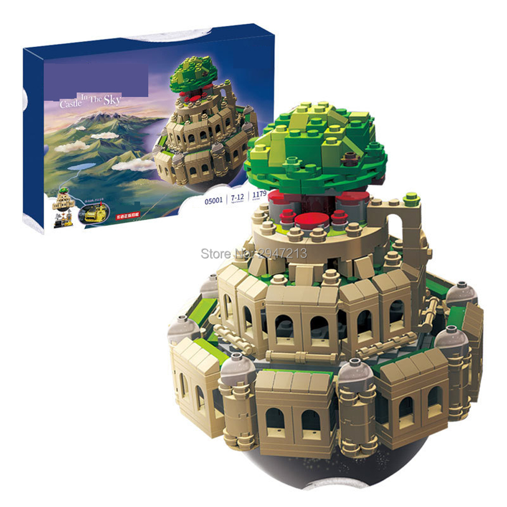 hot compatible LegoINGlys city technic Creative series Castle in the Sky MOC Building blocks modle brick toys for children gift 0367 sluban 678pcs city series international airport model building blocks enlighten figure toys for children compatible legoe