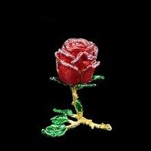 QIFU Handicraft Romanticred Rose Shape Jewelry Bridesmaid Gift