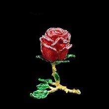 QIFU Handwerk Romanticred Rose Vorm Sieraden Bruidsmeisje Gift