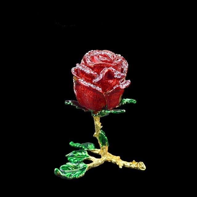 QIFU الحرف اليدوية Romanticred روز شكل مجوهرات وصيفه الشرف هدية