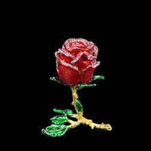 QIFU el sanatları Romanticred gül şekli takı nedime hediye