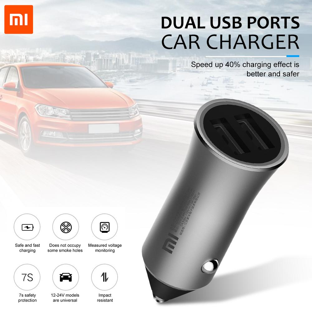 Xiaomi Car-Charger Edition with Led-Light Tips Dual-Usb Max-18w 5V/2.4A 12V/1.5A 9V/2A