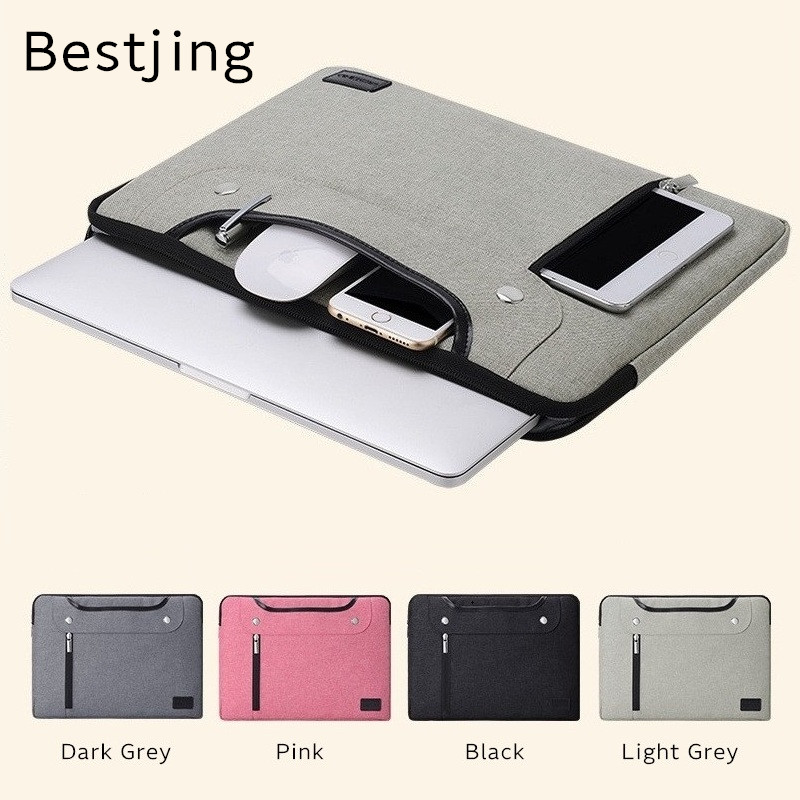 2018 Newest Brand Bestjing Sleeve Case For Laptop 11,13,14,15,15.4,Bag For Macbook Air Pro 13.3, 15.4 inch, Free Shipping fast free shipping laptop backpacks 13 14 15 15 6 inch free gift keyboard cover for macbook pro 13 3 15 4 black laptop bag case