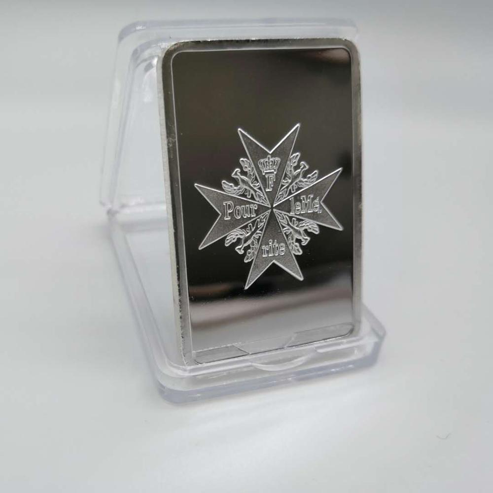 German coin collection,1oz 999 fine Silver Bar with Eagle coin GERMAN WW2 IRON CROSS OF SILVER BAR Free Shipping