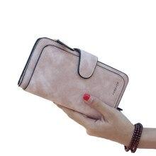 ae43c06648d4c Yeni marka deri kadın cüzdan yüksek kalite tasarımcısı çile düz renk kart  çanta uzun kadın çanta 8 renk bayanlar debriyaj cüzdan