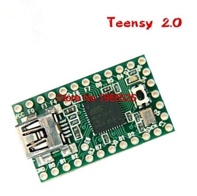 Placa de Desenvolvimento AVR Teensy 2.0 USB Teclado e Mouse com fio ISP Flash Drive U Placa de Teste Frete Grátis com Número Da Trilha 12003273