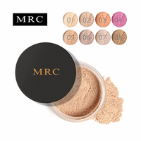 MRC 8 цветов рассыпчатая пудра прозрачный макияж финишная пудра Водонепроницаемый Косметический пуф для лица отделка Установка