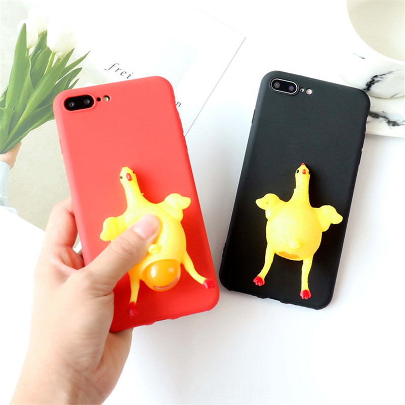 Squishy Cases Iphone 7 : 3D Squishy Squeeze Toys Phone Cases For iphone 7 6S 6 PLus 5 5S Case Cute Cartoon Chick Soft ...