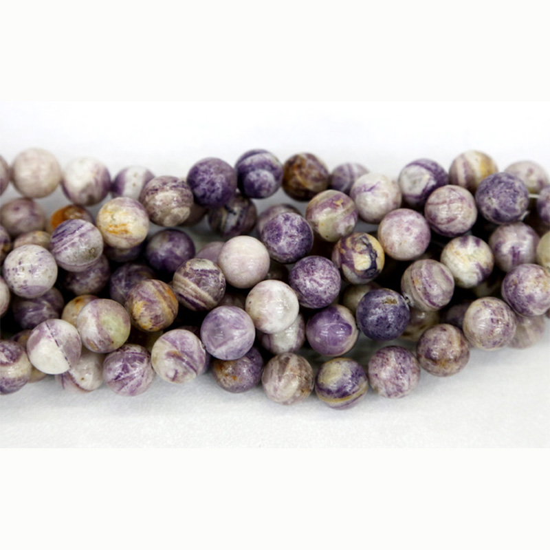 "Discount Wholesale Natural Lavender Picture Jasper Round Loose Stone Beads 3-18mm Jewelry DIY Necklaces or Bracelets 15"" 03331"