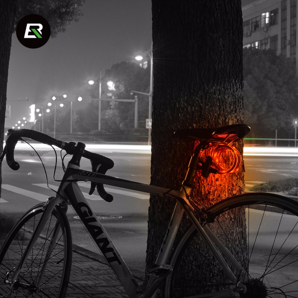 ROCKBROS MTB Bicycle Light Lock USB Rechargeable Rain resistant High ...
