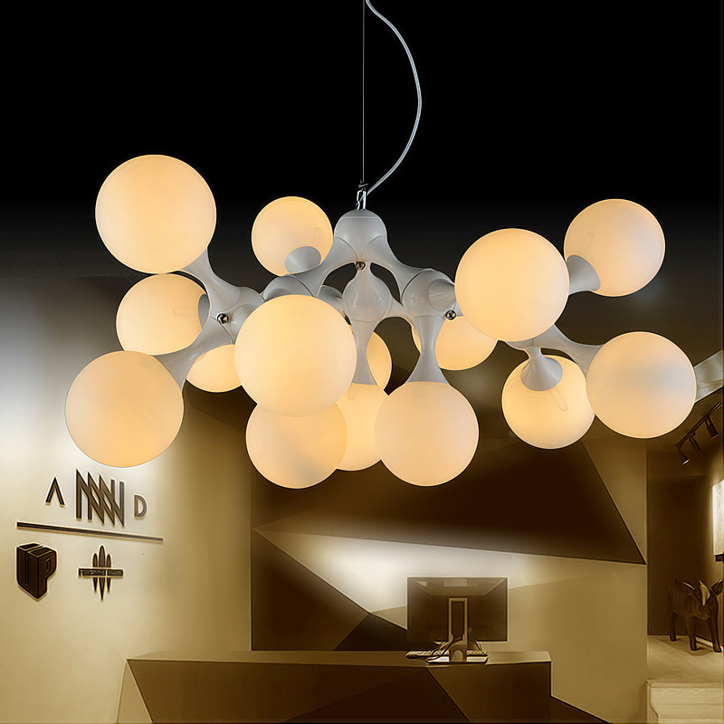 UK Creative Restaurant Living Room Next Design DNA Glass Ball Molecule Pendant Light With Grapes Lamp
