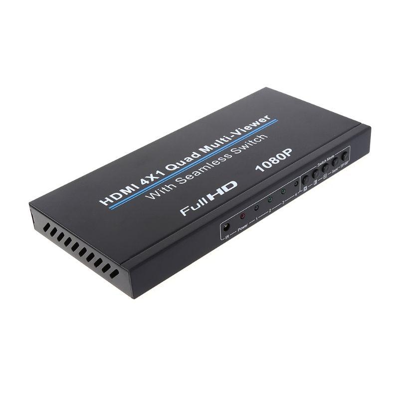 HDMI 4x1 Quad wielu viewer Full 1080 p przełącznik bez szwu Multiviewer przełącznik ekran na podczerwień konwerter Splitter w Moduły automatyki domowej od Elektronika użytkowa na AliExpress - 11.11_Double 11Singles' Day 1