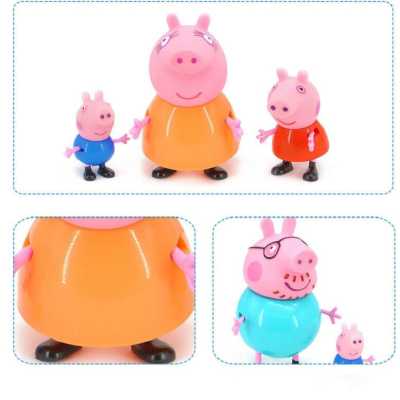 Peppa pig George Toys House Dolls Set Action Figure Original Anime toys for children Cartoon Family Friend Party Dolls Birthday in Action Toy Figures from Toys Hobbies