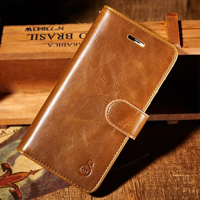 Verdadeira carteira de couro magnética case para iphone 7 7 plus tampa flip com saco do telefone titular do cartão para o iphone 5 5s se 6 6 s plus case