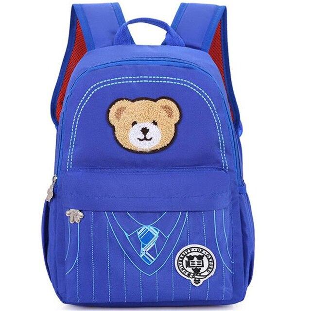 Kindergarten Children Bag Lovely Boy Girl's School Bag 1-3-6 Grade Little Bear School Bag Brand Waterproof Travel Backpack B134