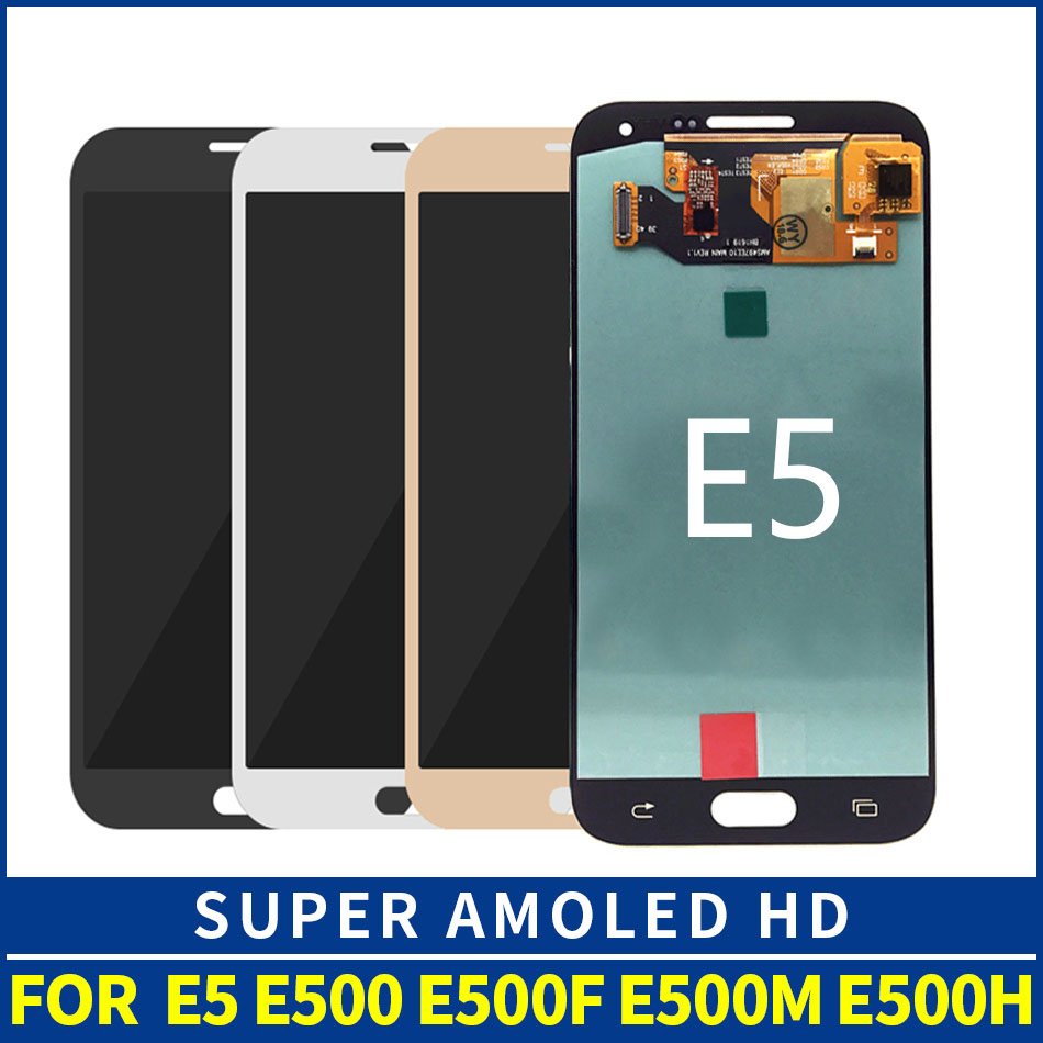 OLED E500F <font><b>lcd</b></font> <font><b>LCD</b></font> Für Samsung Galaxy E5 E500 <font><b>E500H</b></font> E500M <font><b>LCD</b></font> Display Touchscreen Digitizer Montage image