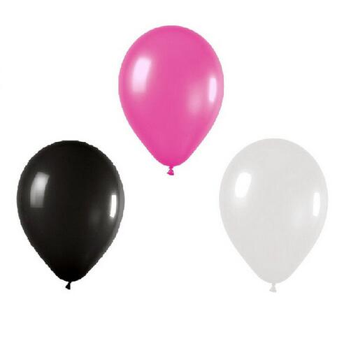 60 Count 10 Mixed Hot Pink Black And White Latex Balloon Wedding