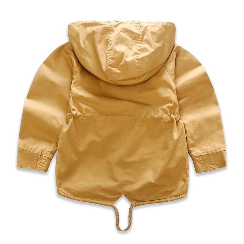 För 2-9 år Baby Boy Jacka Coat Kids Hooded Windbreaker Bomull - Barnkläder - Foto 4