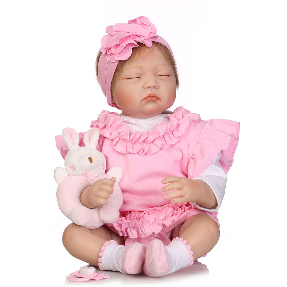 55CM Jointed Reborn Doll Lifelike Baby Dolls House Play Toys for Infant Playmate Christmas Gift M09 55cm vinyl jointed reborn doll lifelike kids baby dolls for infant playmate christmas gift m09