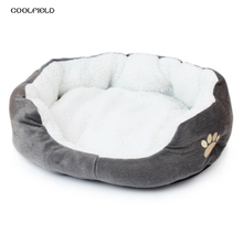 2017 Pet Dog Bed Warming House Soft Material Cat Kennel Warm Winter for Products 6 Colors 64*54*21cm