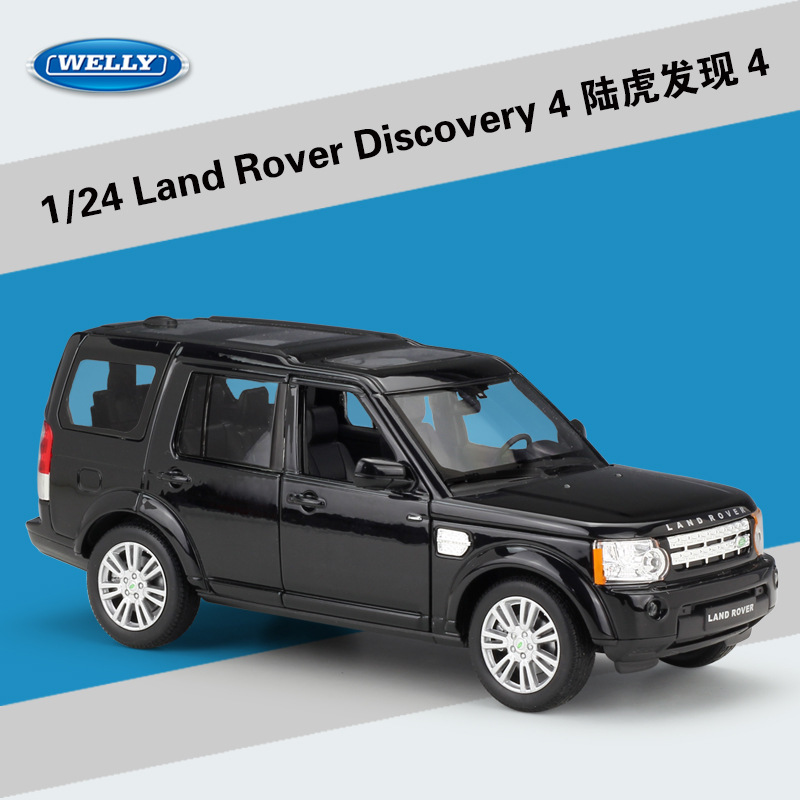WELLY Diecast 1:24 Classic Alloy Model Car Land Range Rover Discovery 4 Off-Road Metal Toy Car For Children Gifts Collection